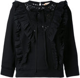 No.21 ruffle and lace sweatshirt - women - Cotton - 42