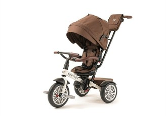 Bentley 6-in-1 Convertible Trike/Stroller White Satin with Chocolate Canopy
