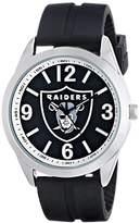 Game Time Men's NFL-VAR-OAK Varsity Analog Display Japanese Quartz Black Watch