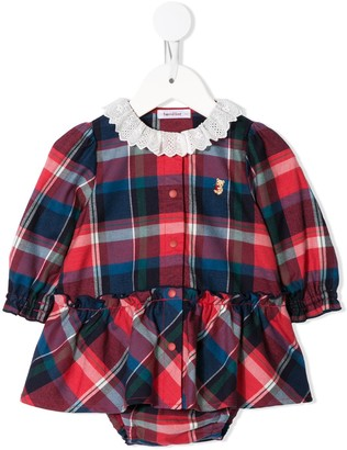 Familiar Check Button-Up Shirt