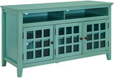 Linon Largo Turquoise Media Cabinet