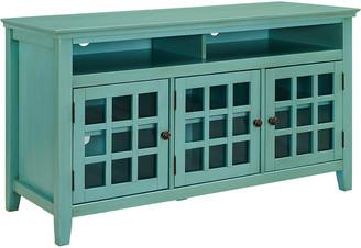 Linon Largo Turquoise Media Cabinet