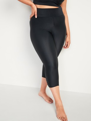 Old Navy High-Waisted Secret-Slim Plus-Size Swim Capri Leggings