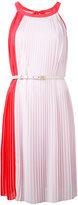 Blumarine pleated sleeveless dress