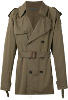 Di Liborio - loose fit trench coat - men - Cotton/Viscose - 46