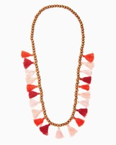 Charming charlie Tiki Pom Tassel Necklace