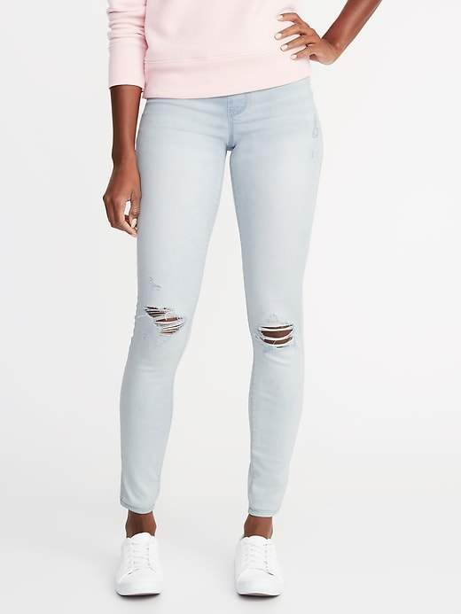 Old Navy Distressed Rockstar Jeggings for Women