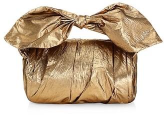 REJINA PYO Nane Knotted Metallic Barrel Bag