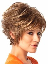 B-G Charming Wigs New Fashion Women Party Cosplay Short Sexy Full Hair Wig +A Free Wig Cap WIG024