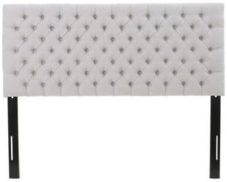 Gdfstudio GDF Studio Annecy Diamond Tufted Fabric Queen/ Full Headboard, Light G