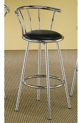 """Wildon Home 29"""" Bar Stool Upholstery: Chrome"""