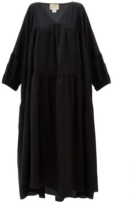 Anaak - Airi Silk Maxi Dress - Womens - Black