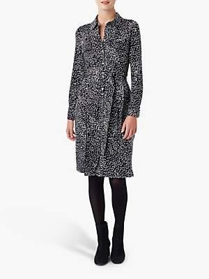 Hobbs Sally Shirt Dress, Navy/Ivory