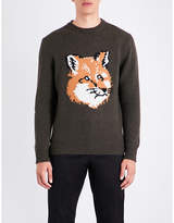 MAISON KITSUNÉ Fox head wool jumper