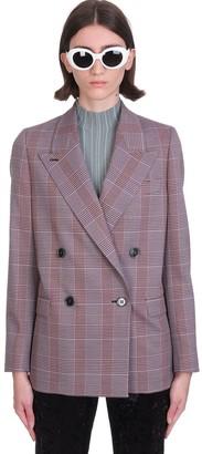 Acne Studios Blazer In Rose-pink Wool