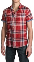 Jachs NY Single-Pocket Plaid Shirt - Spread Collar, Short Sleeve (For Men)
