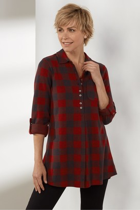 Women Mad About Plaid Tunic