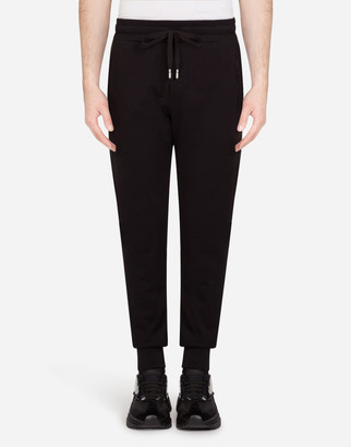 Dolce & Gabbana Jogging Pants With Rubberized Logo Patch