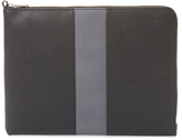 Jack Spade Striped Barrow Leather Portfolio Case