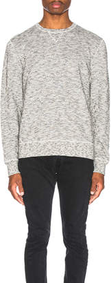 Levi's Made & Crafted Made & Crafted Geo Fleece Crewneck in Terry Grey | FWRD