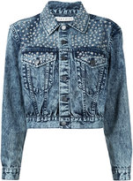 Alice + Olivia Alice+Olivia studded denim jacket