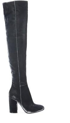 Gianvito Rossi Velvet Over-The-Knee Block Heel Boots