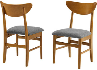 Crosley Landon 2Pc Wood Dining Chairs W/Upholstered Seat