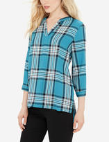The Limited Plaid V-Neck Pullover
