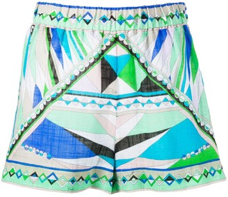 Emilio Pucci Abstract Print Shorts