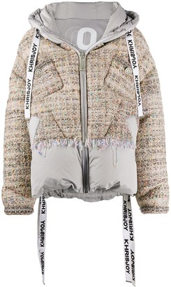 KHRISJOY Tweed Padded Down Jacket