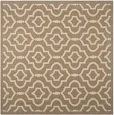 "Safavieh Courtyard Collection CY6926-242 and Bone Indoor/ Outdoor Square Area Rug, 7 feet 10 inches Square (7'10"" Square)"