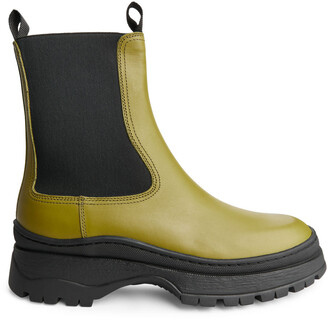 Arket Chunky Leather Boots