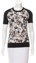 Erdem Silk-Cashmere Short Sleeve Top