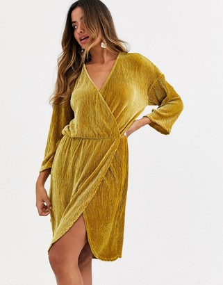 Y.A.S long sleeve wrap mini dress