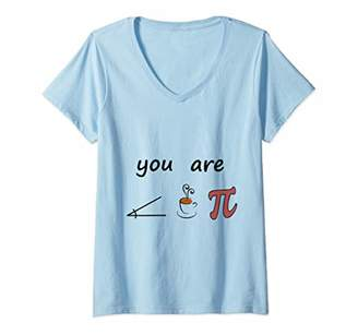Pi Womens Math Geek T-Shirt Day T-Shirt Funny T-Shirt Promotion V-Neck T-Shirt
