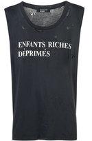 Enfants Riches Deprimes distressed logo vest