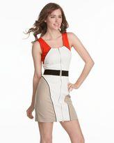 Bcbgmaxazria colorblock zip-front dress