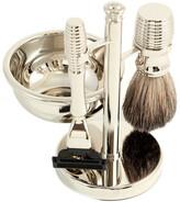 Bey-Berk Mach 3 Razor & Pure Badger Brush W/ Soap Dish