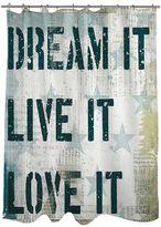 Thumbprintz ''Dream It Live It Love It'' Fabric Shower Curtain