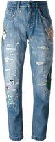 Dolce & Gabbana embellished boyfriend jeans