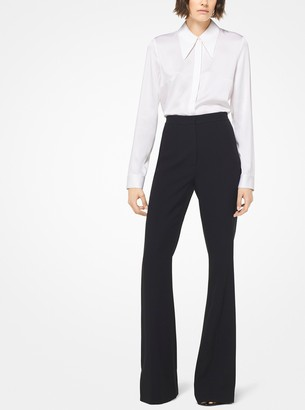 Michael Kors Collection Double Crepe-Sable Tuxedo Trousers