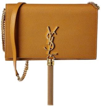 Saint Laurent Kate Tassel Leather Wallet On Chain