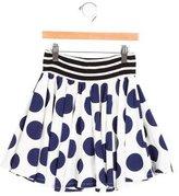 Junior Gaultier Girls' Polka Dot A-Line Skirt