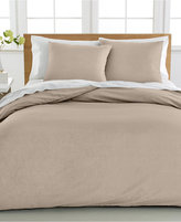 Sunham Cotton Linen Full/Queen Duvet Cover 3-Piece Set