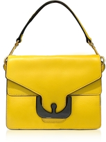 Coccinelle Ambrine Graphic Sunflower Leather Satchel Bag