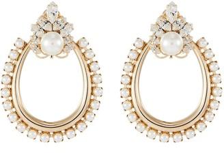 Anton Heunis Baroque faux pearl chandelier earrings