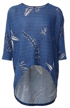 Dorothy Perkins Womens Izabel London Blue Dip Hem Top, Blue