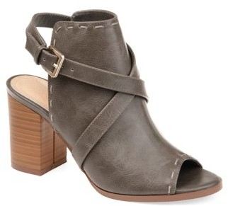 Brinley Co. Womens Open-back Strap Bootie