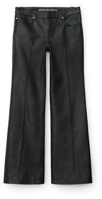 Collection leather boot cut jean