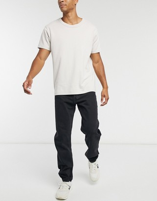 Weekday Barrel loose fit jeans in tuned black